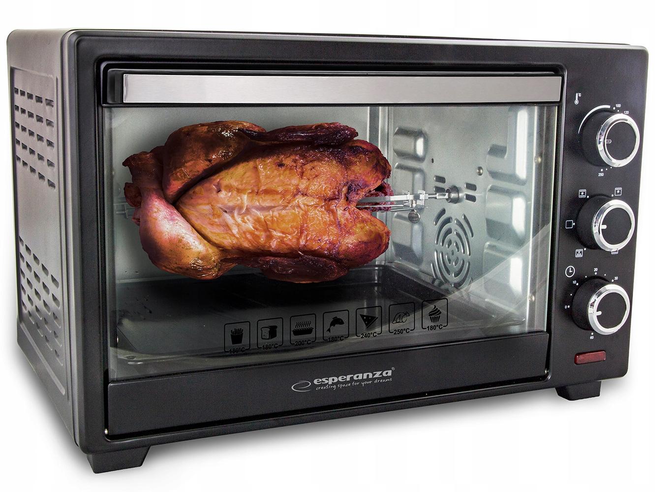 Mocny mini piekarnik elektryczny rożno grill 25l