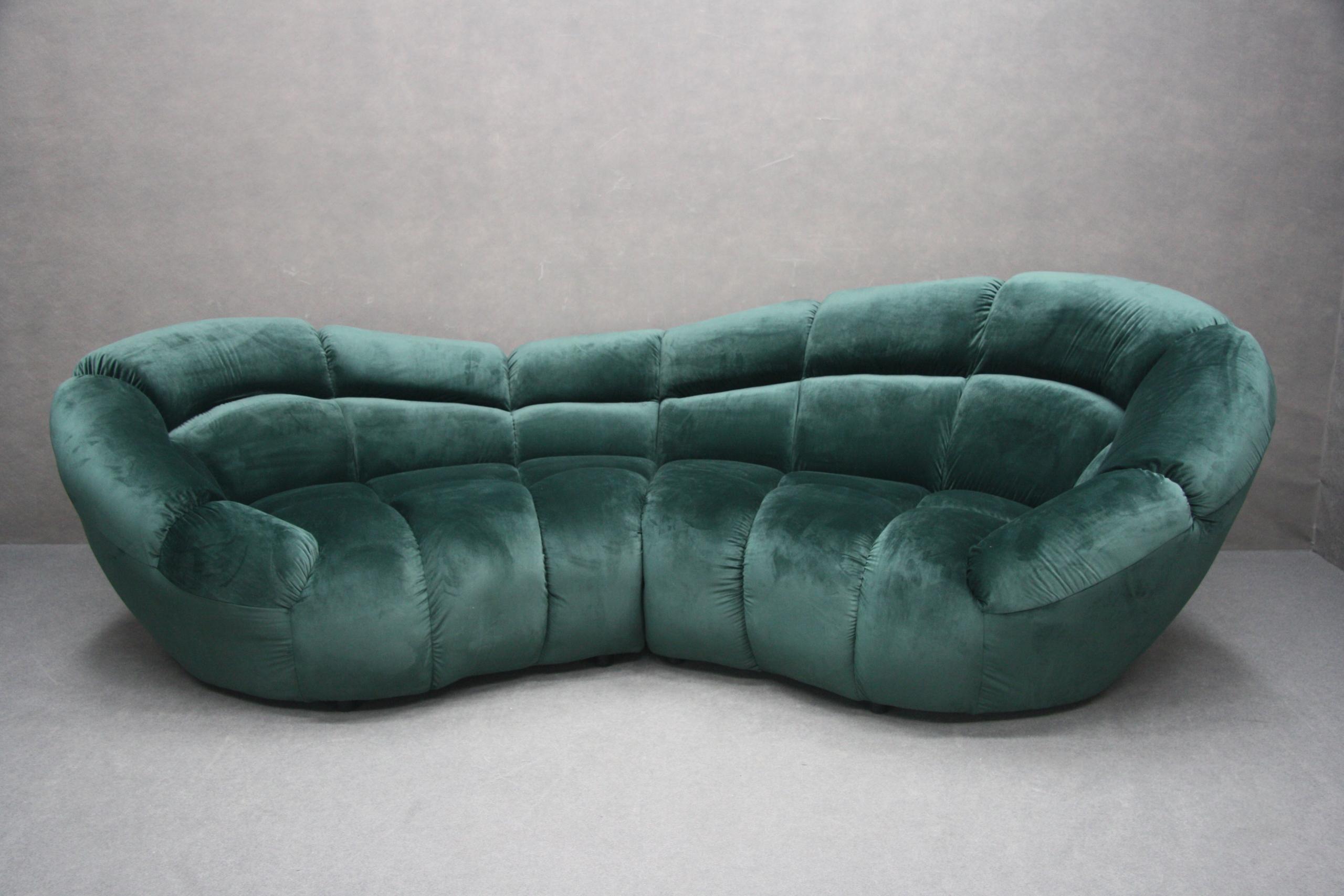 Pohovka-gauč rozkladací Gauč-Zelený Ovál RETRO Fľaša zelená
