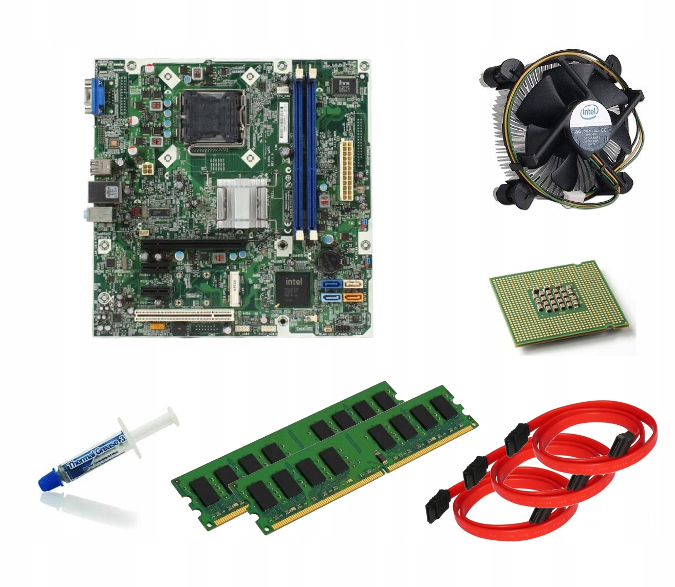 ZESTAW PŁYTA +QUAD CORE 4x2.5 +4GB DDR3 COOLER ++