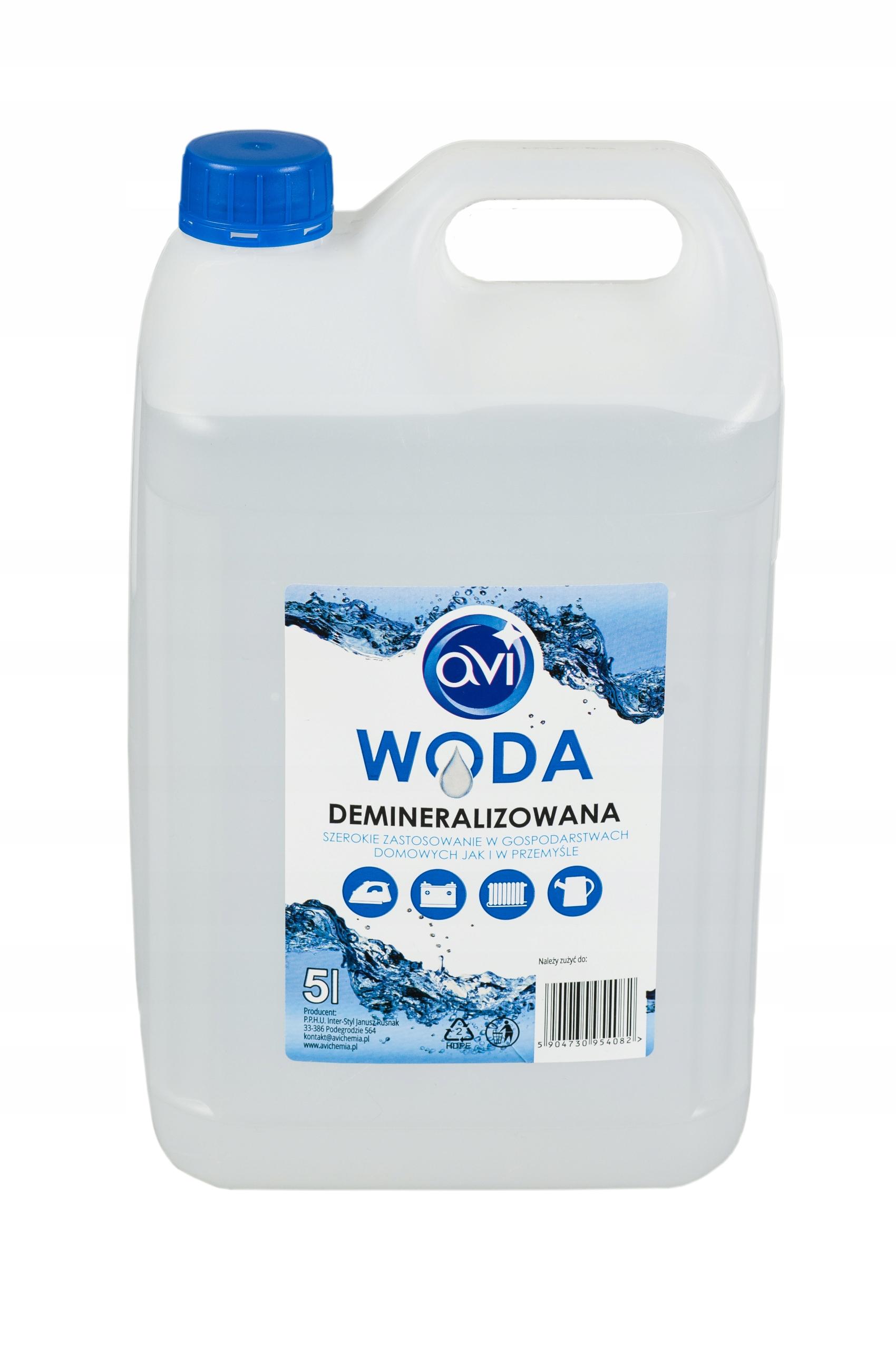 Деминерализованная вода AVI 5L ПОЛЬСКИЙ ПРОДУКТ