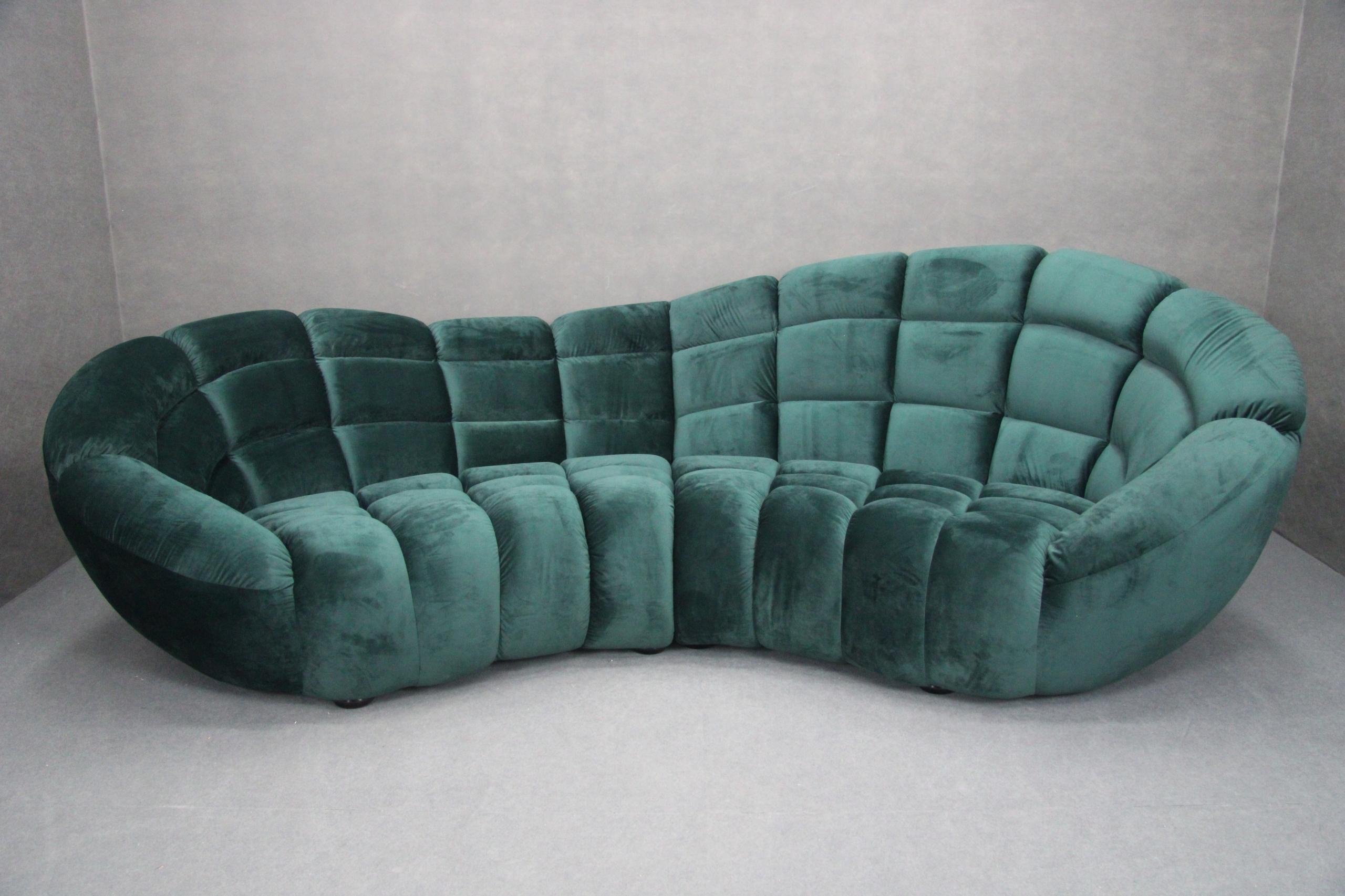 Pohovka-gauč rozkladací Gauč-Zelený Ovál RETRO DRZÝ Zelená