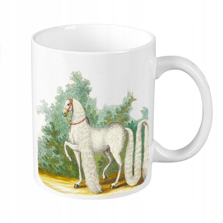 Hrnček s koňom Vintage jazdecký kôň PRE Retro