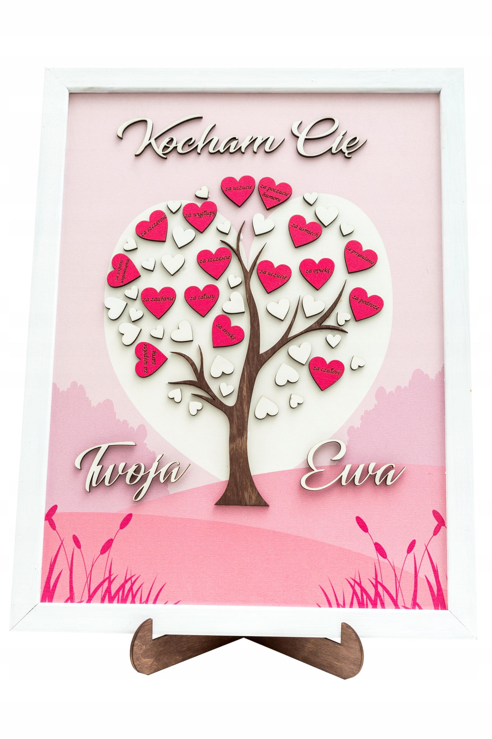 Darček pre Valentína 3D obrazový rám pre ňu