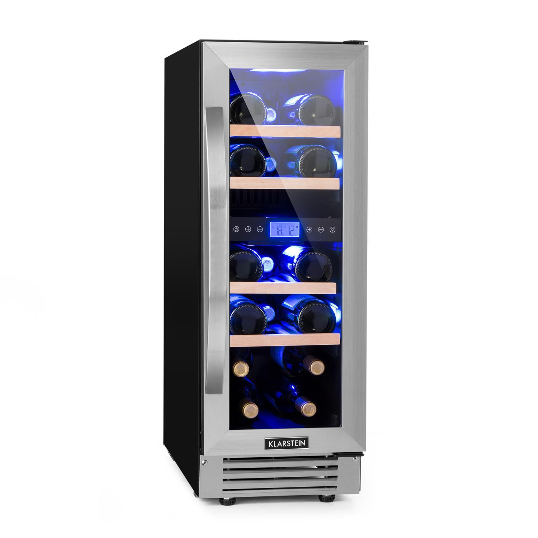 Winiarka pod zabudowę 53l 17 butelek 2 strefy LED