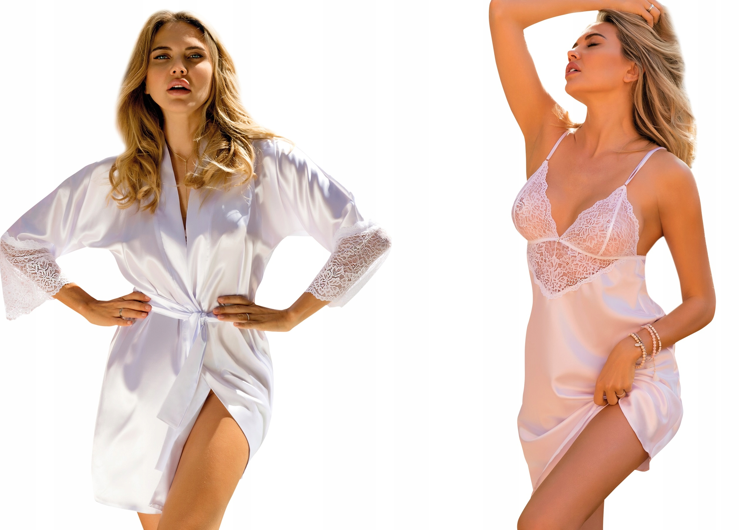 DKaren Clarisse Zestaw podomka+koszulka *XL* biel