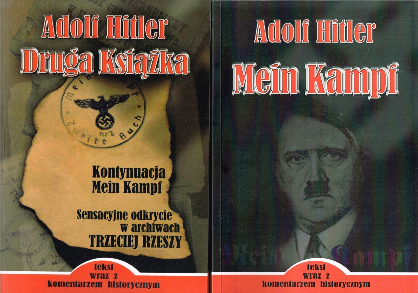 Item MEIN KAMPF + the SECOND BOOK - ADOLF HITLER new!