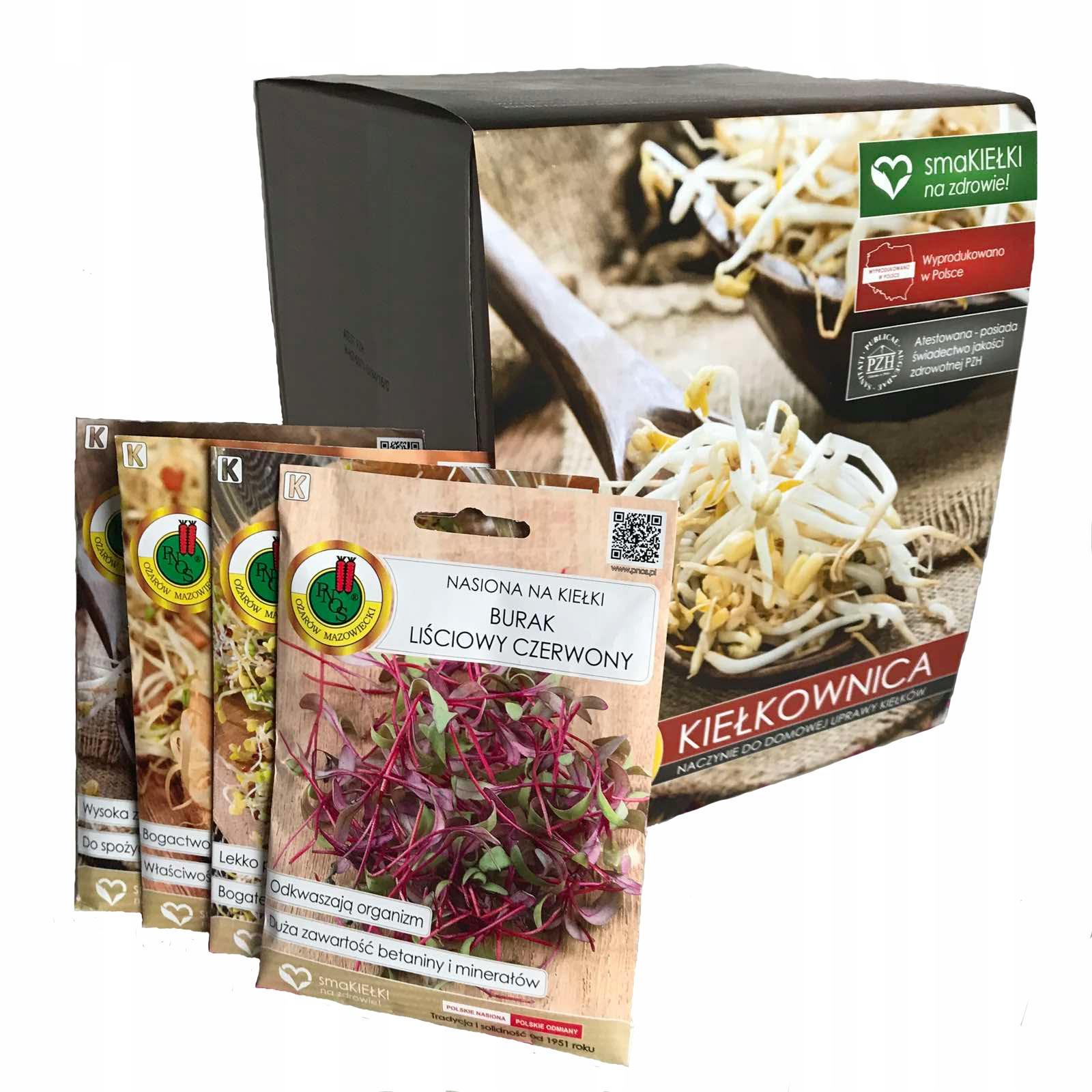 Kiełkownica Naczynie do kiełkowania+nasiona gratis