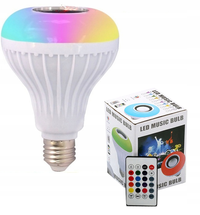 Item BLUETOOTH SPEAKER E27 RGB LED DISCO-panel