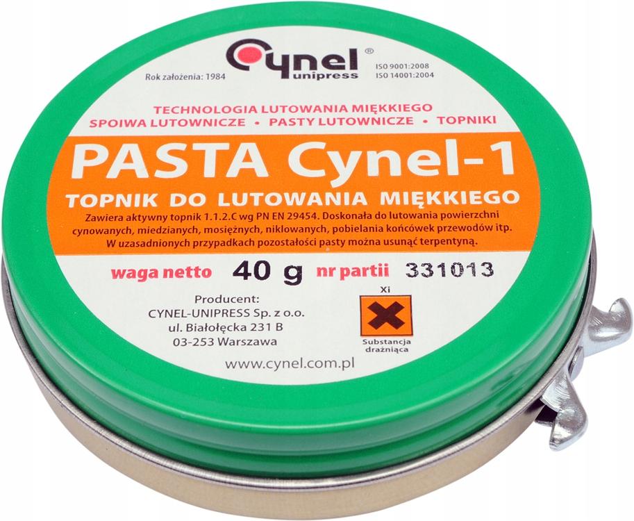 CYN02 паяльная Паста 40г Cynel