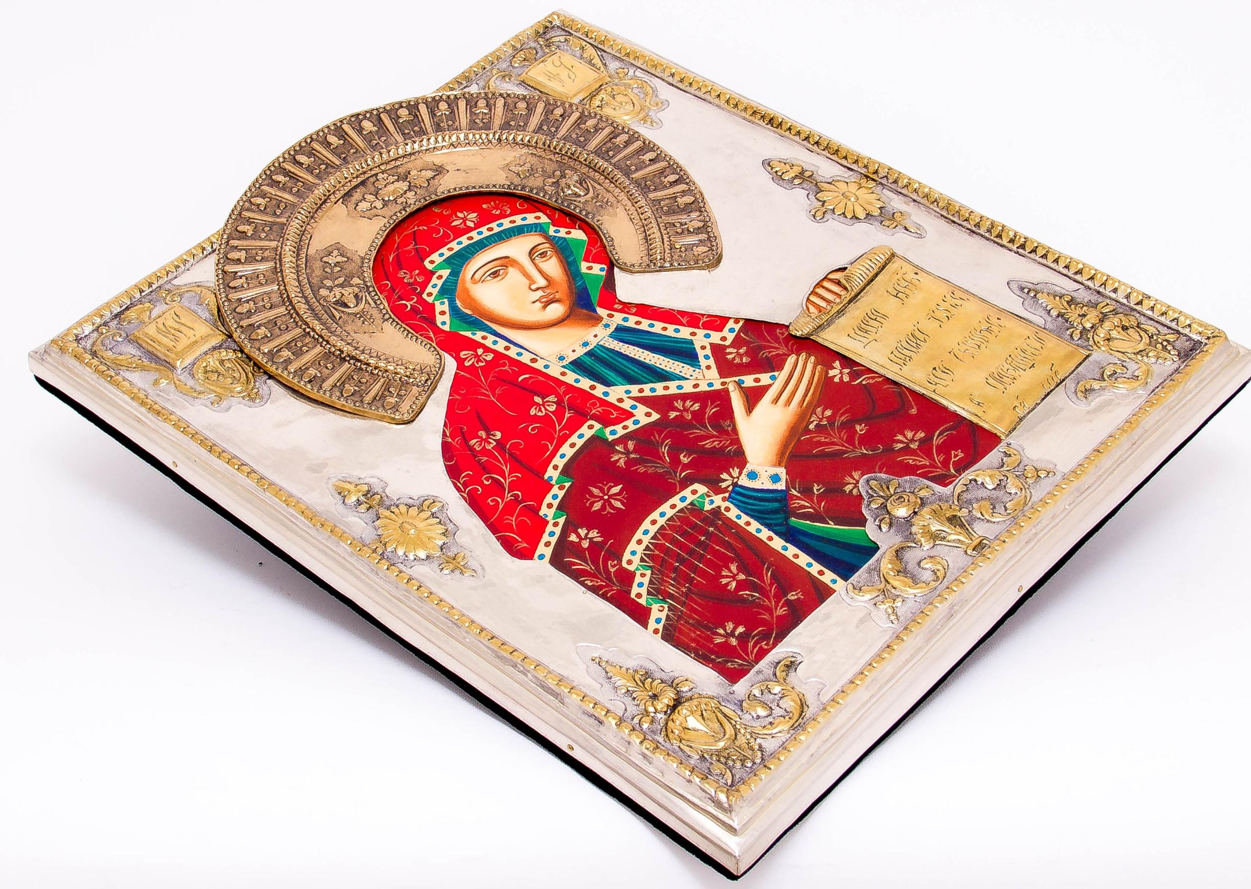 Ikona Matki Bożej Bogolubskiej MALOWANA DUŻA nr39P Artysta ABA Cuprum Piotr Adamczyk