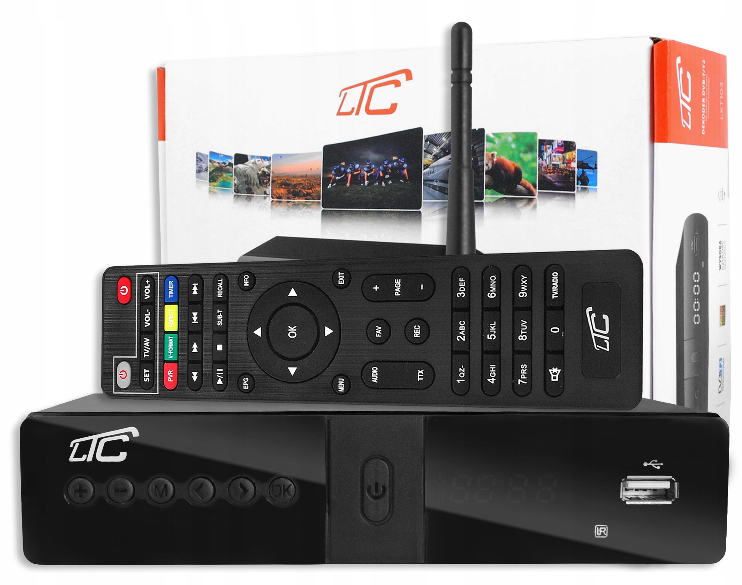 DECODER TUNER TV TERRESTRIAL HD DVB-T DVB-T2 / WiFi