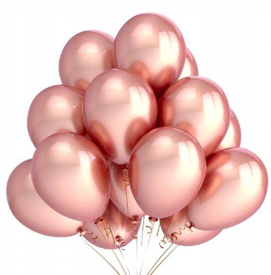 Металлический шар из розового золота 10 шт. На день рождения