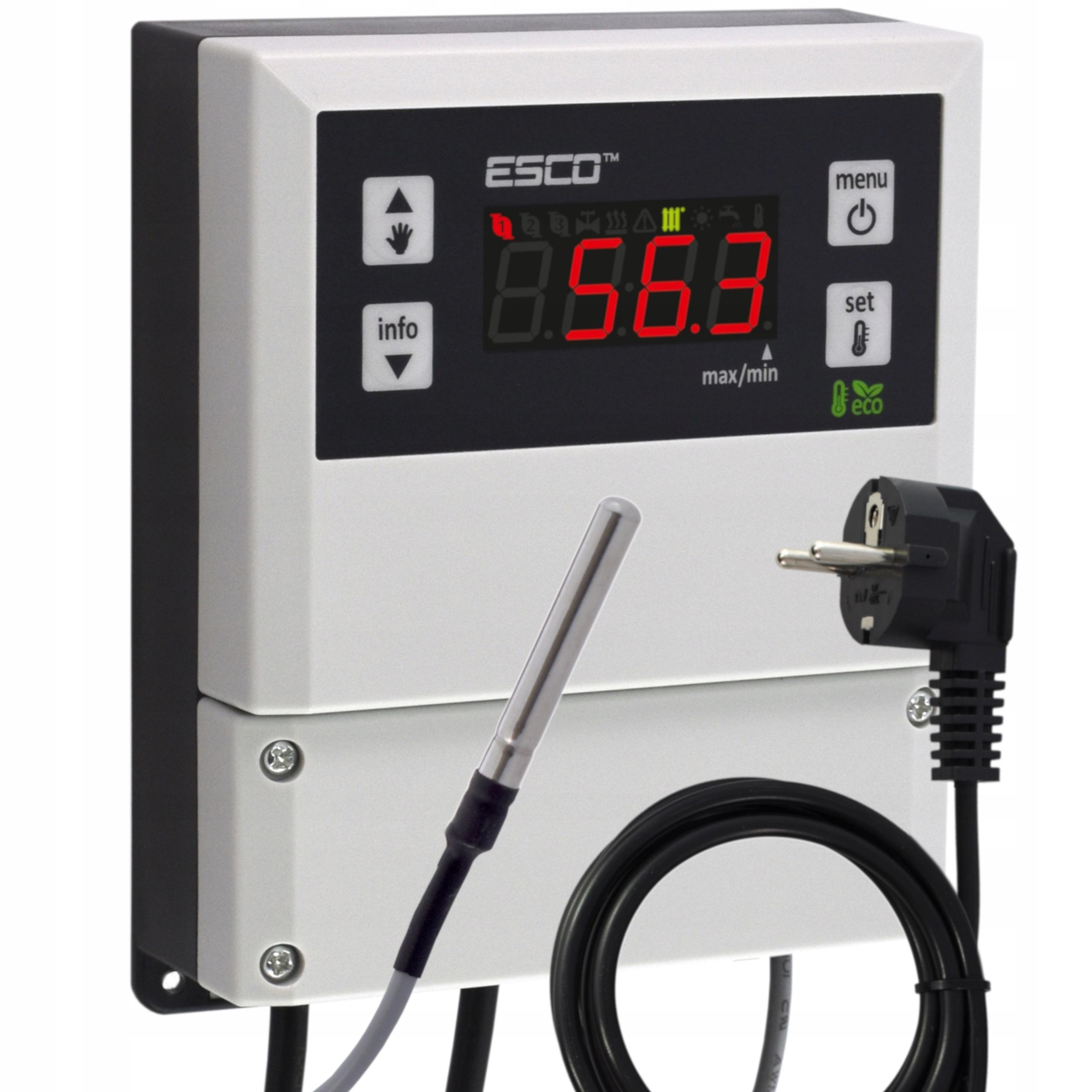Sterownik termostat pompy C.O. obiegowej