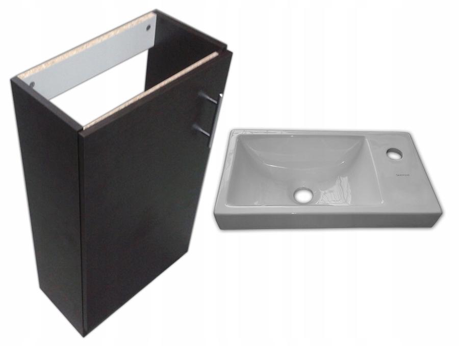 Skrinky s umývadlom vonkajšie wenge 42x23