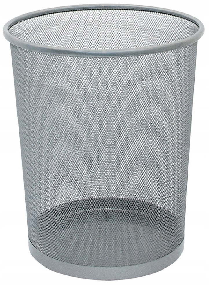 Item The TRASH can METAL 19L silver height: 34 cm