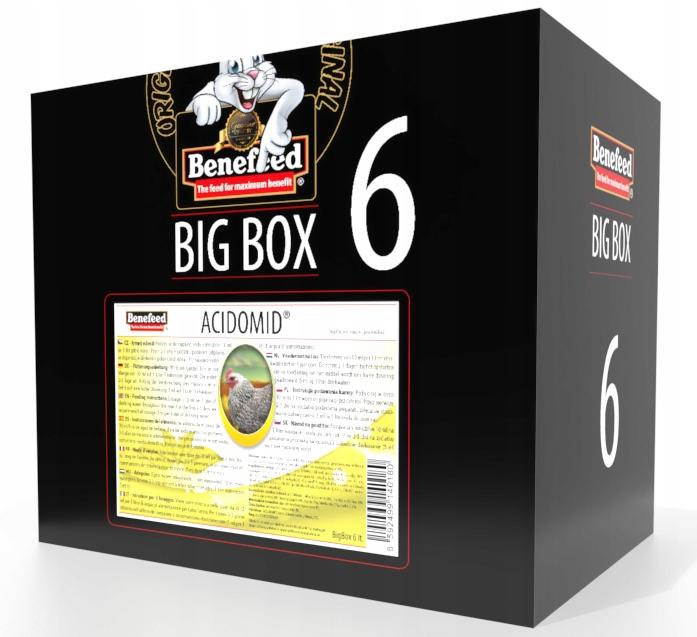 ACIDOMID pre hydinu ZAKWASZACZ VODY 6 L BOX !