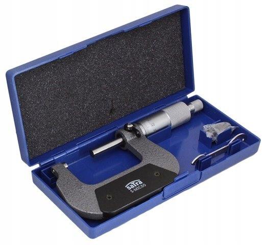 MIKROMETR ZEWNĘTRZNY 0.01MM 25-50mm SATRA S-MIC50