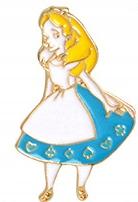 Pins Alicja W Krainie Czarów emaliowana przypinka
