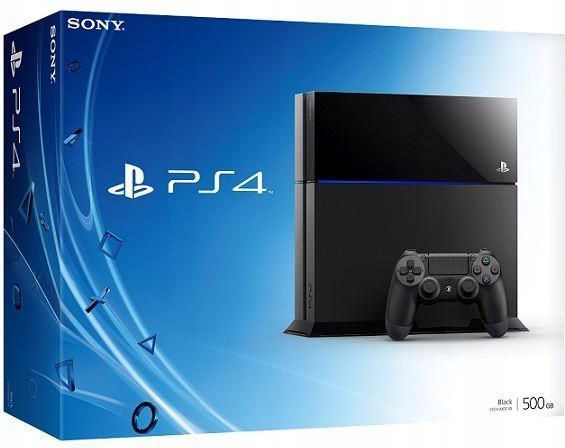 SONY PLAYSTATION 4 500GB JET BLACK + PAD SKLEP !