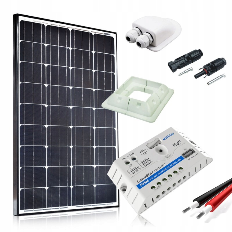 Солнечная панель solar вагончик 100W КОМПЛЕКТ