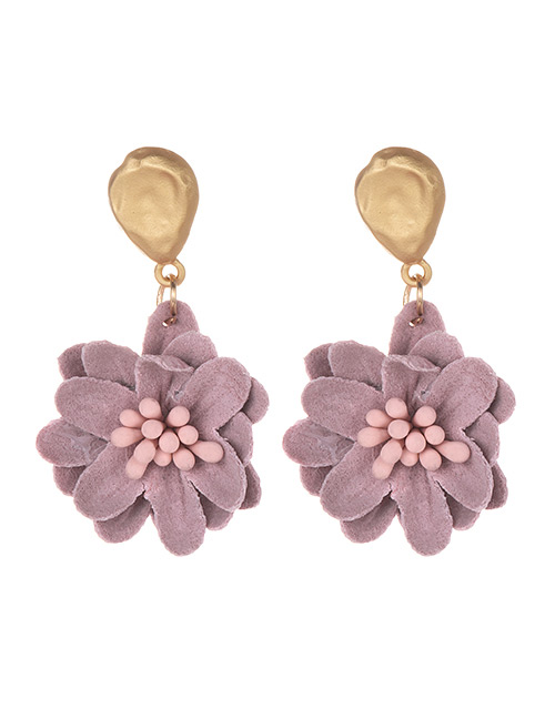 Kolczyki fioletowe kwiat KI149