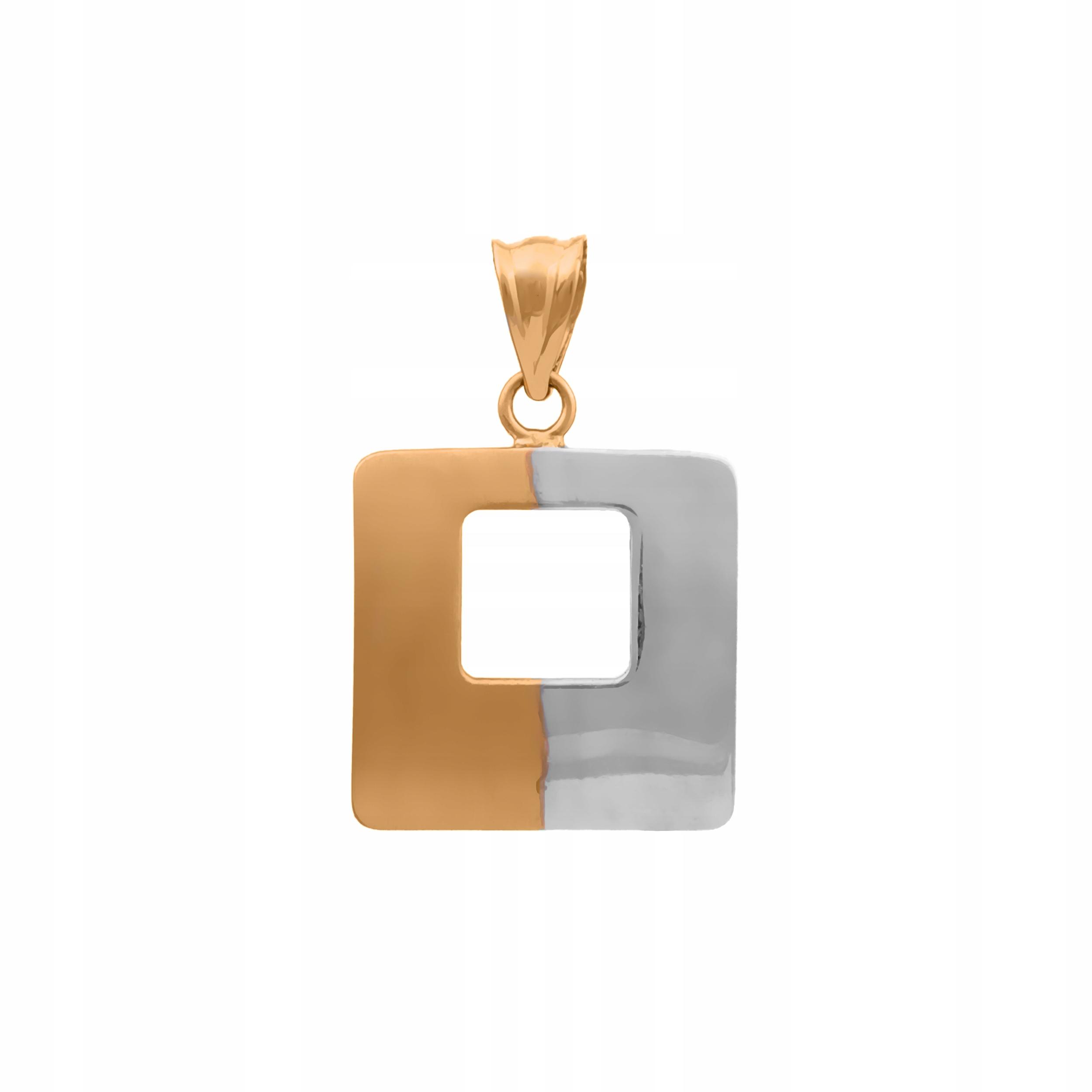 Zlatý Prívesok pr585 Štvorcové Biele Zlato RYTCA