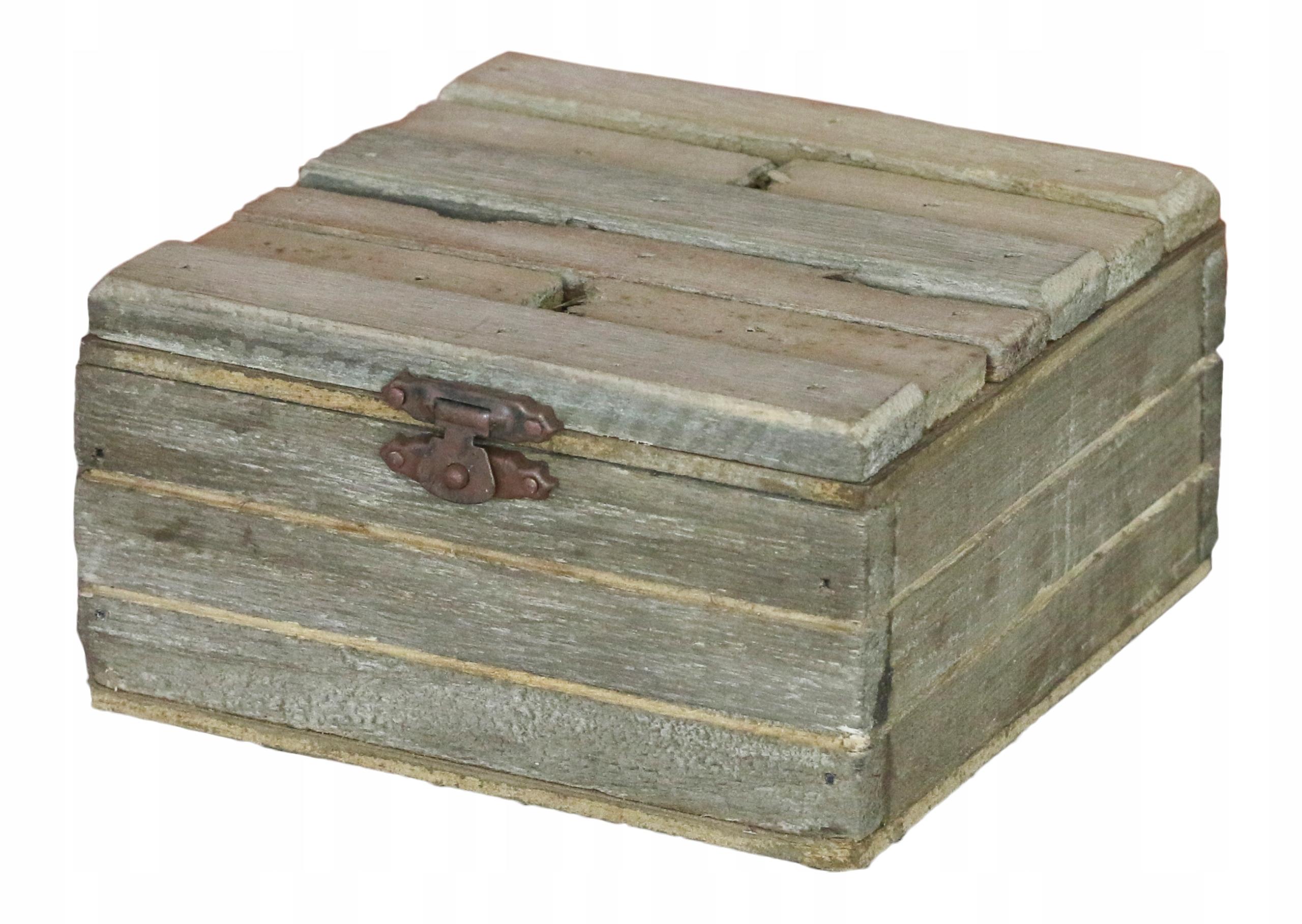 BOX pre malé predmety, drevené RETRO 12x12cm