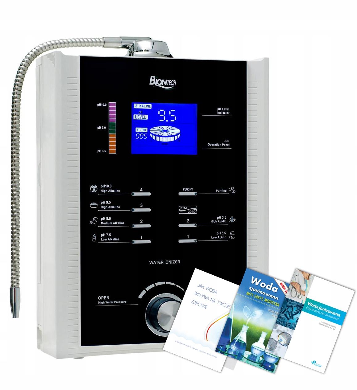 Jonizator wody Biontech BTM 207D 7 płyt + GRATISY!