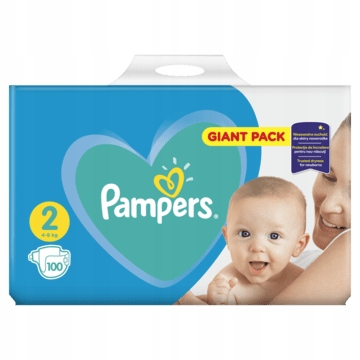 GIANT PACK PAMPERS New Baby-dry MINI 2 100 szt.