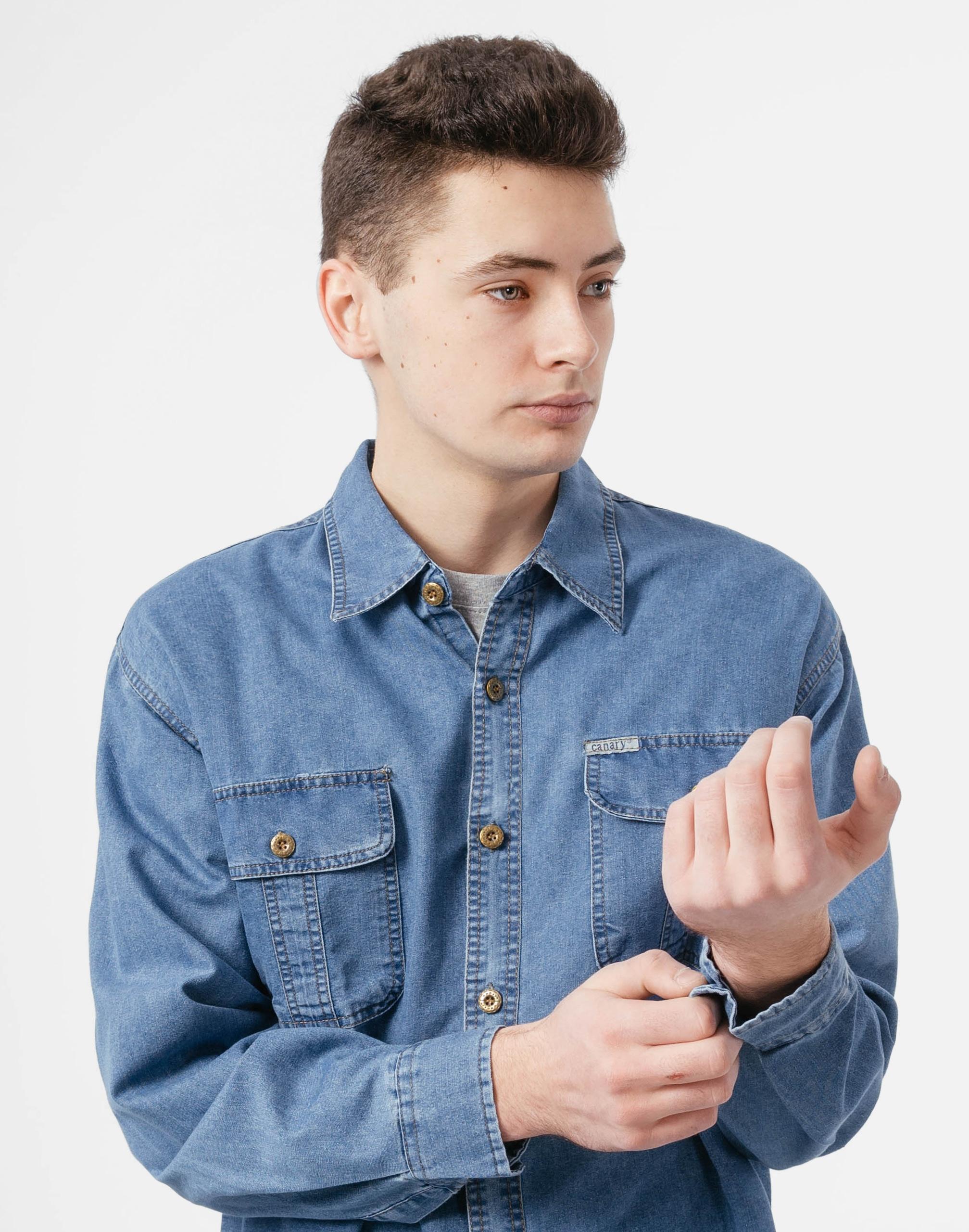 Koszula Męska Jeansowa Dżinsowa Jeans 8052 01 XXL 9022662900  glkFE