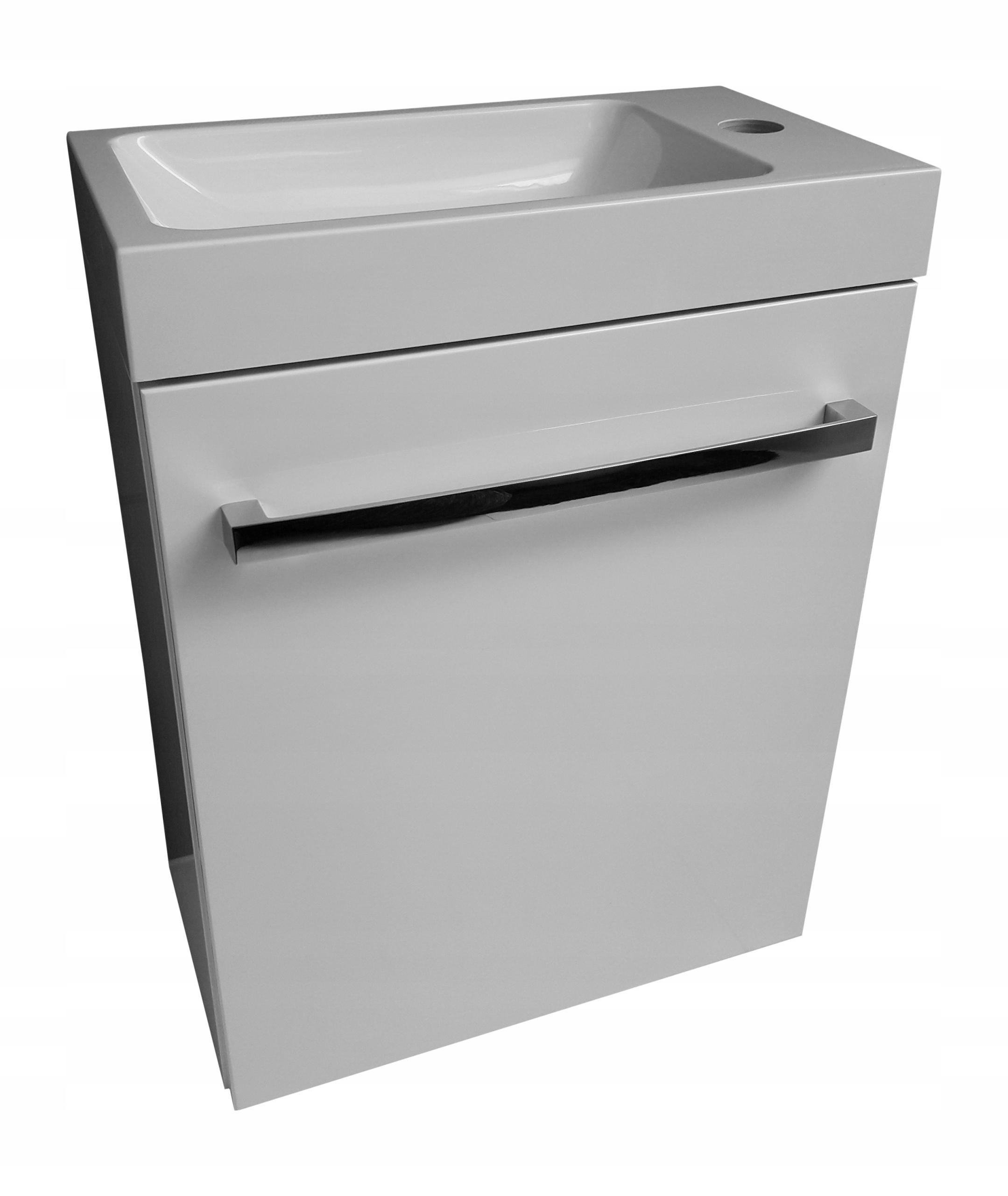 Nastaviť toaletný stolík s umývadlom 40-22 mierny lesk