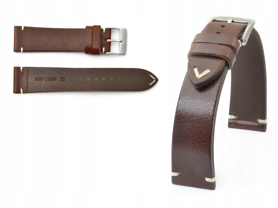 Item BROWN LEATHER WATCHBAND TOSCANA RETRO 21MM
