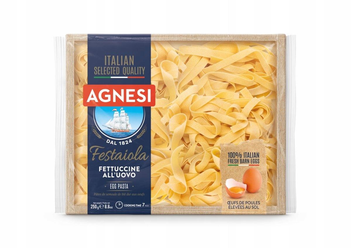 AGNESI włoski makaron jajeczny Fettuccine 250G