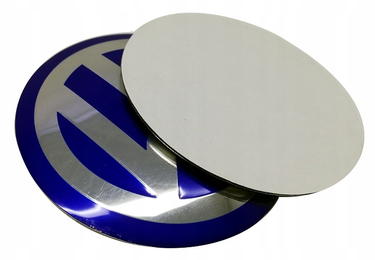 выпуклый алюминий для VW наклейка эмблема 90мм N