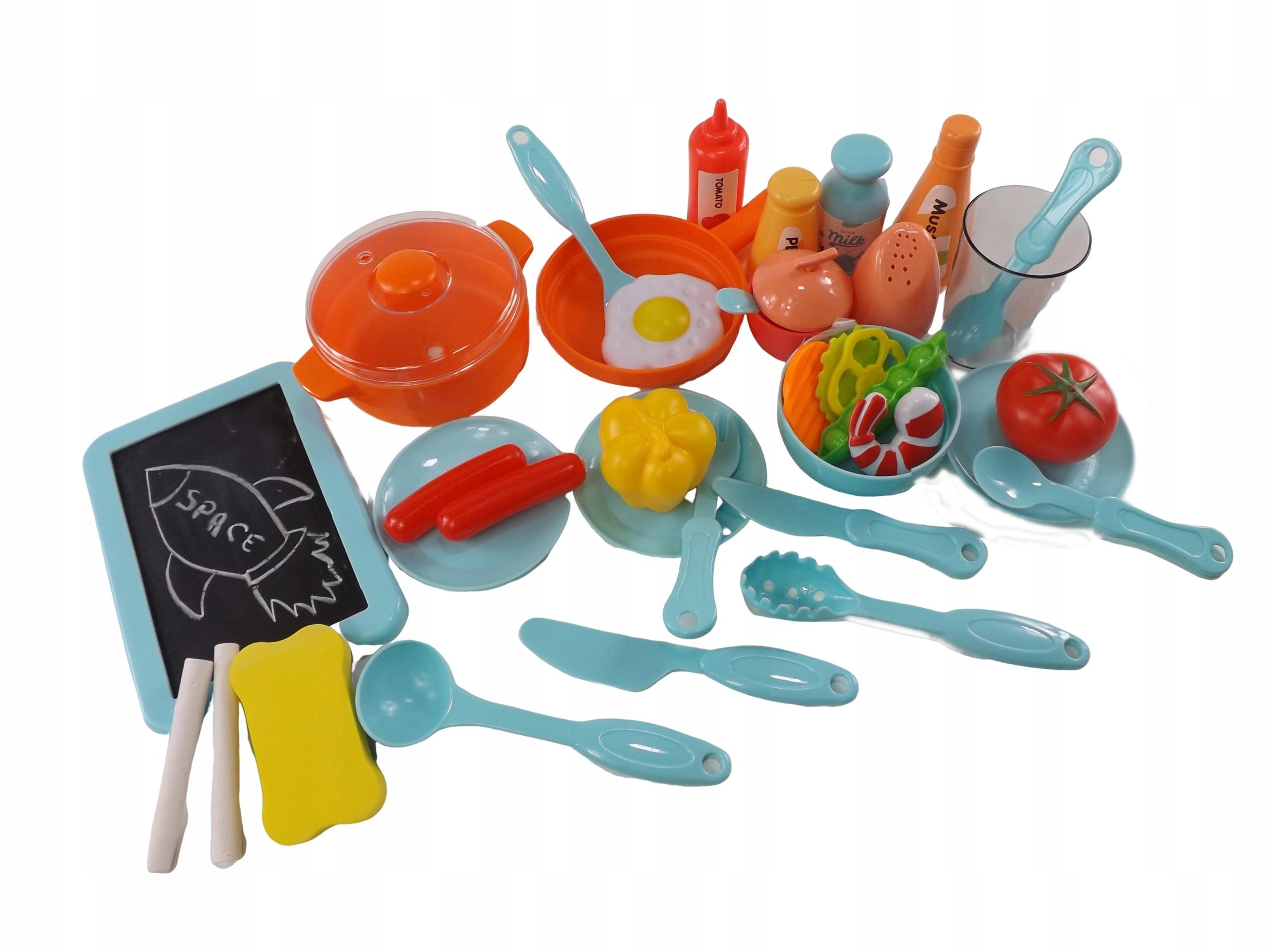 KUCHNIA DLA DZIECI WODA KRAN DŹWIĘKI ŚWIATŁA 169 Materiał Plastik