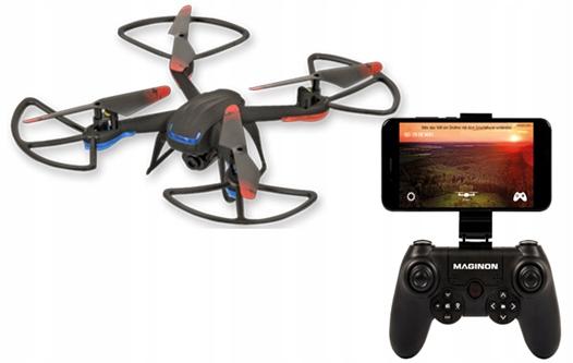 DRON 26cm ZAWIS helikopter HD ląd 2 4GHZ i 1aku WIFI