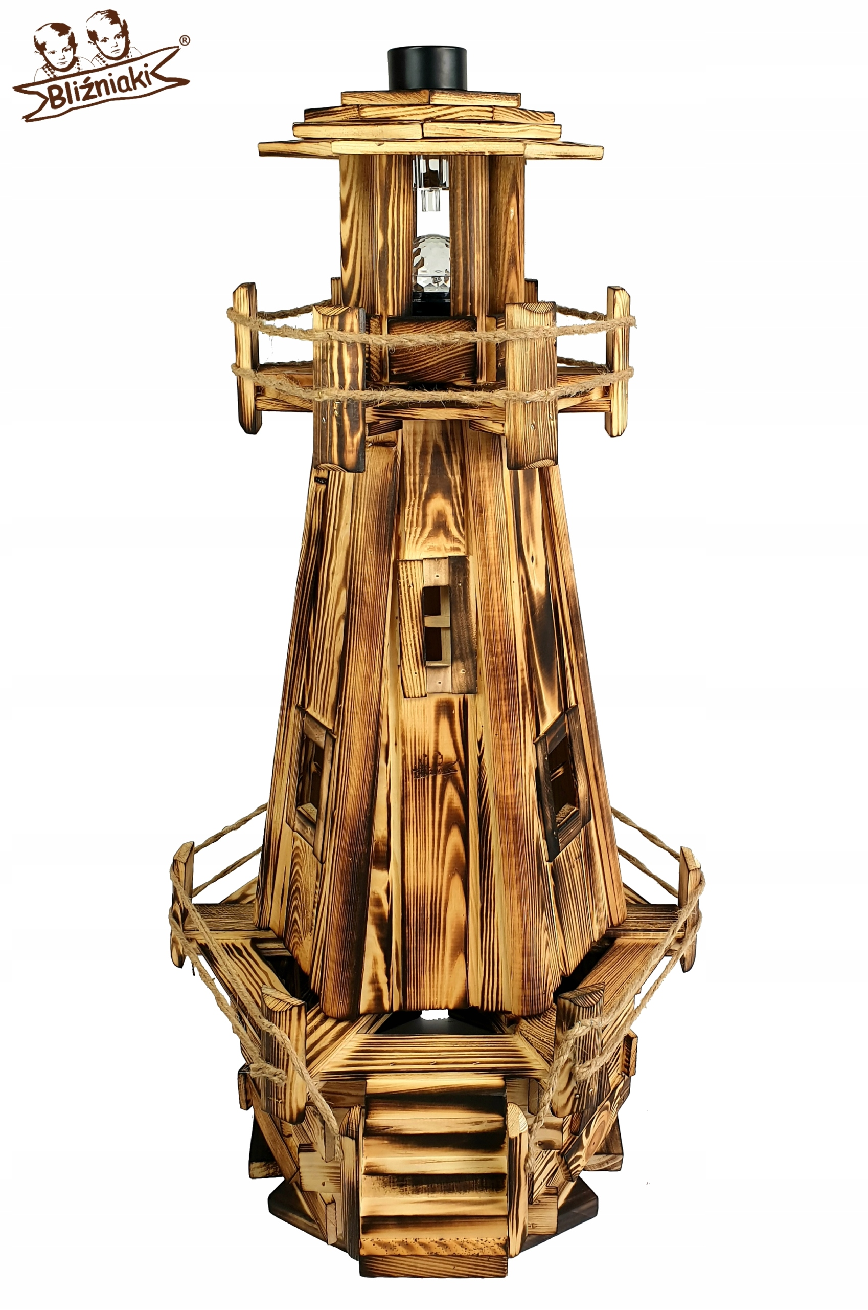 105 cm drevené MAJÁK pre záhradné DEKORÁCIE