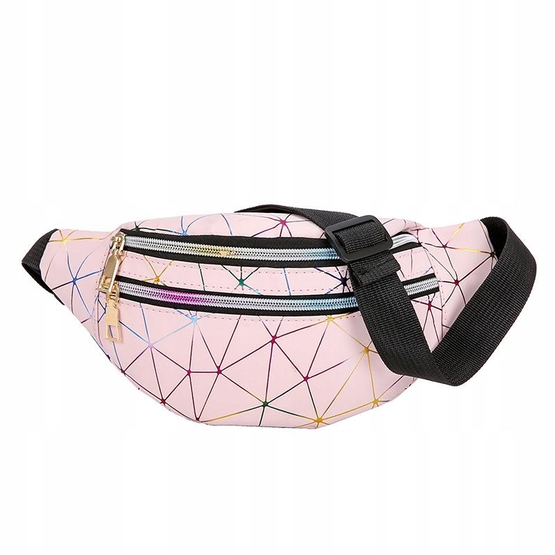 Хип-сумка на талии с поясом розового цвета