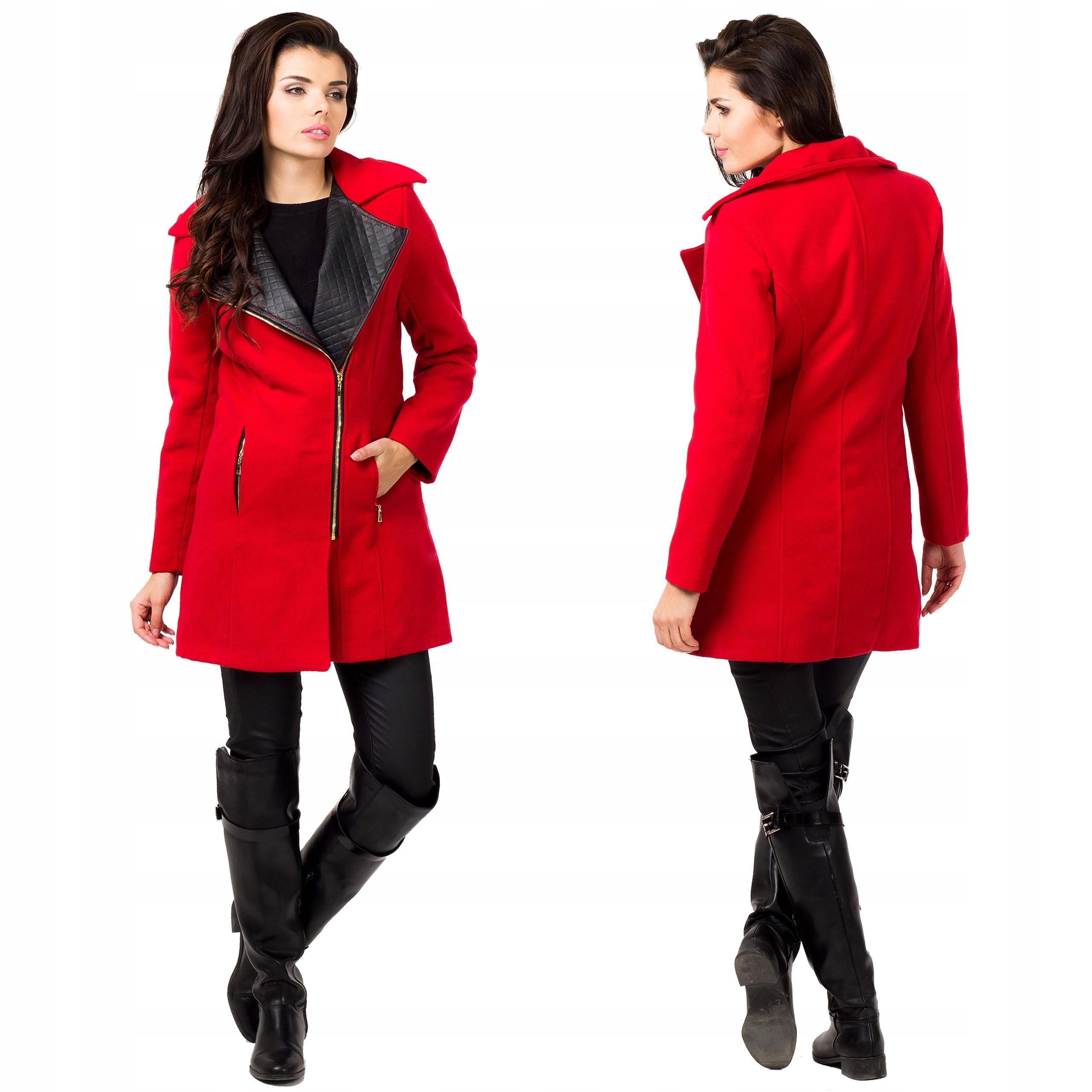 Płaszcz damski jesienny zimowy Flauszowy 40 L