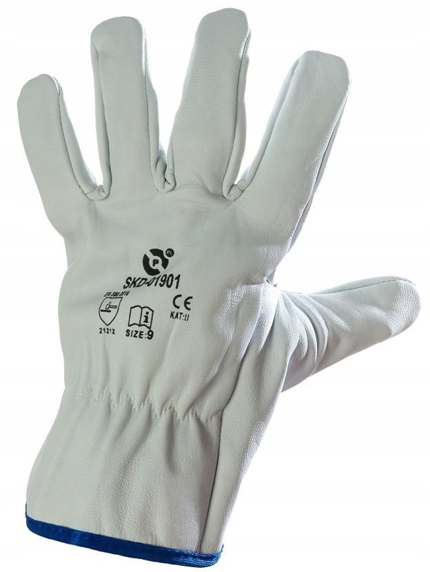 Rękawice robocze spawalnicze TIG skóra krótkie 9 L