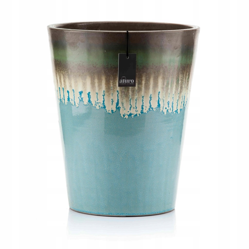 The flower pot shell Mavi keramické retro modrá XXL