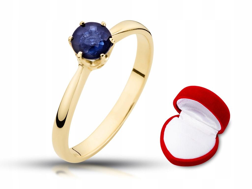 Złoty pierścionek zaręczynowy szafir 0 50ct w 24h