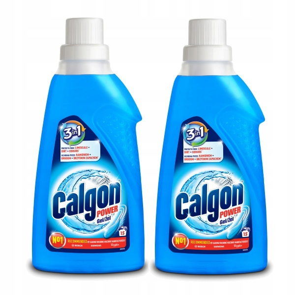 Calgon Gel Desaceiter Стиральная машина Softener 2x750мл