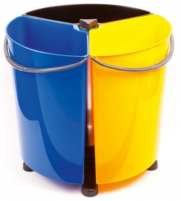 Корзина бен для сегрегации мусора вращающихся