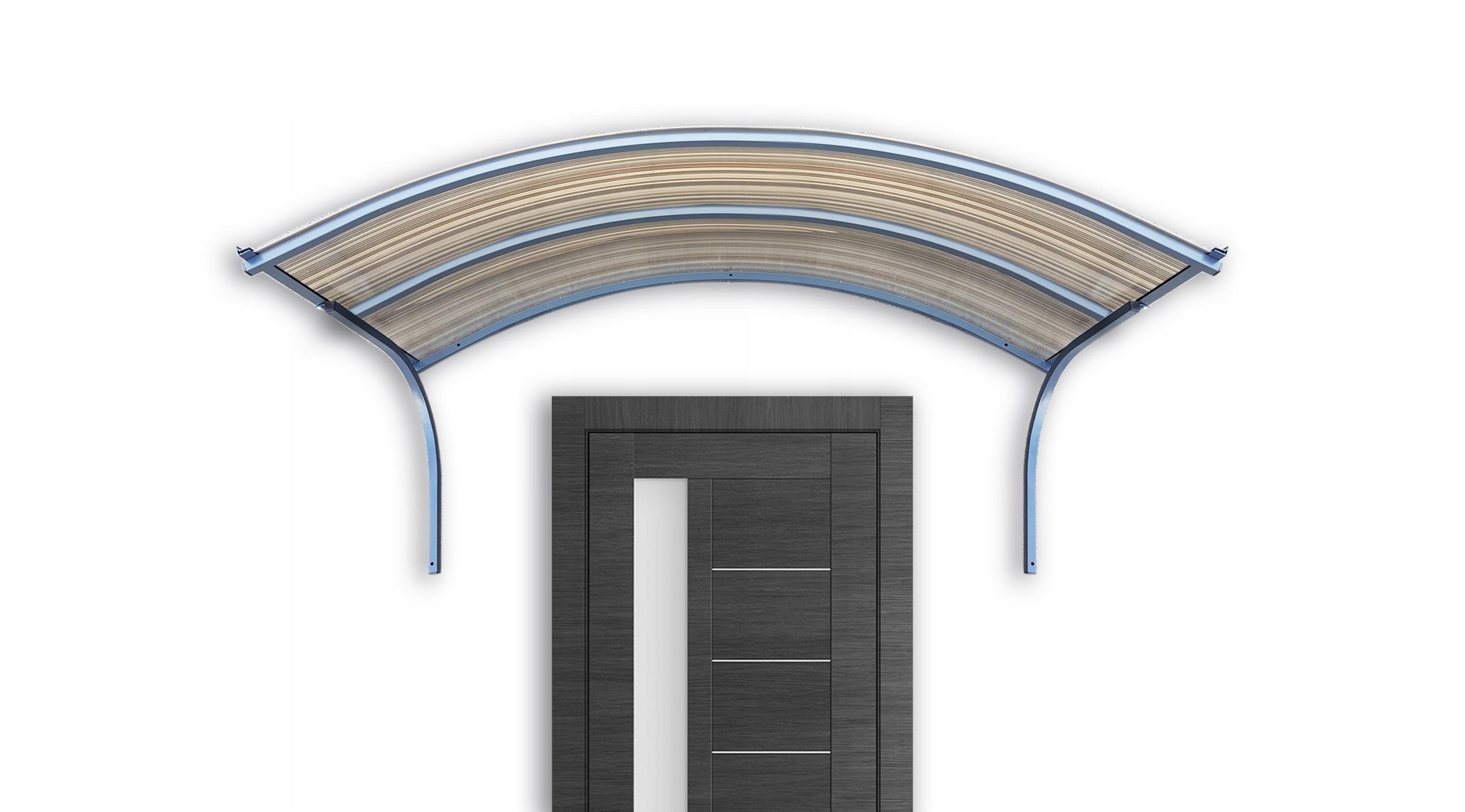 Strieška dverí, strecha 170x25x90 antracitová