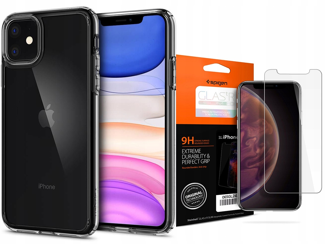 Spigen Ultra Hybrid Etui Case Iphone 11 +szkło Sgp