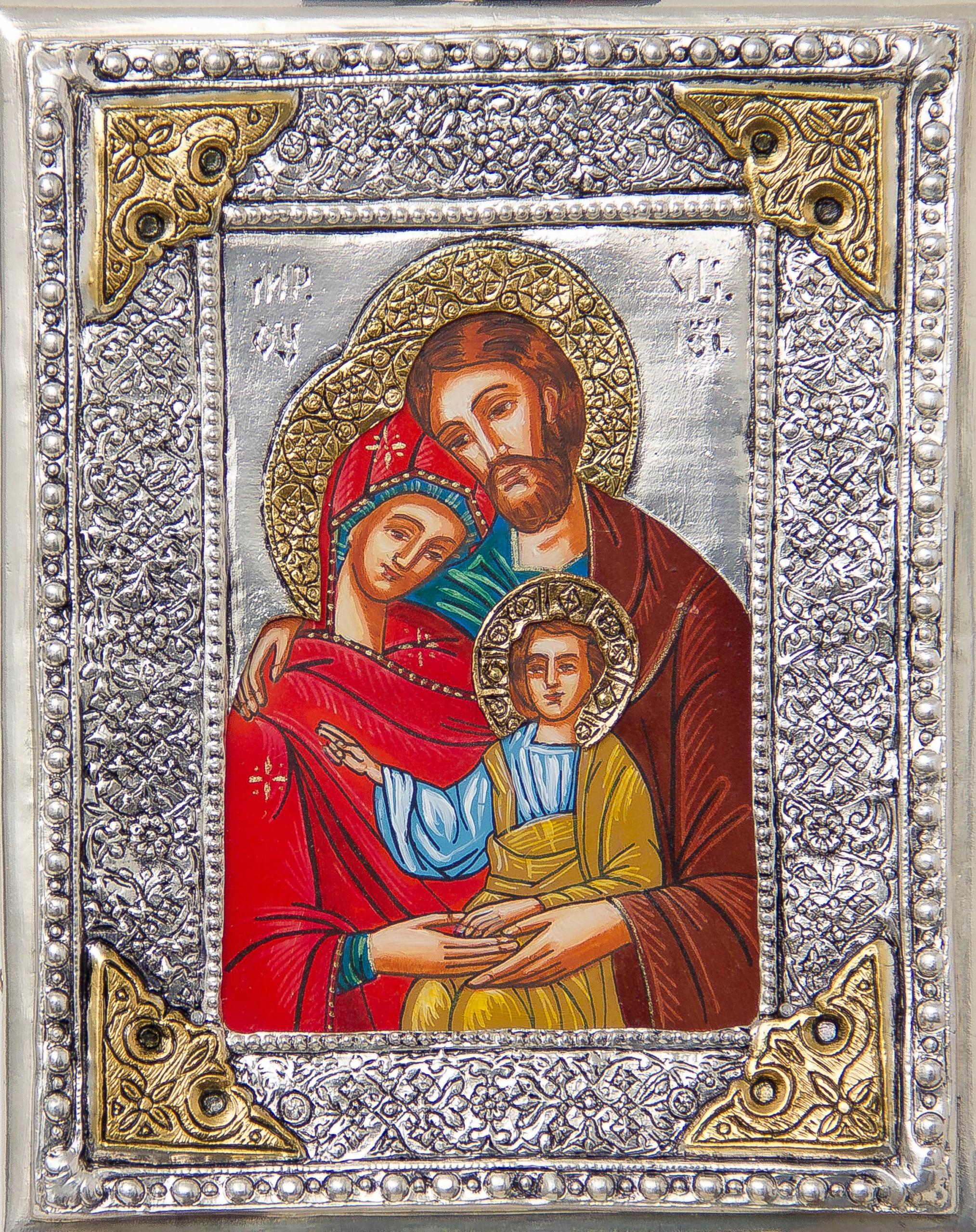 Ikona Św. Rodziny z Nazaretu! malowana nr 111P