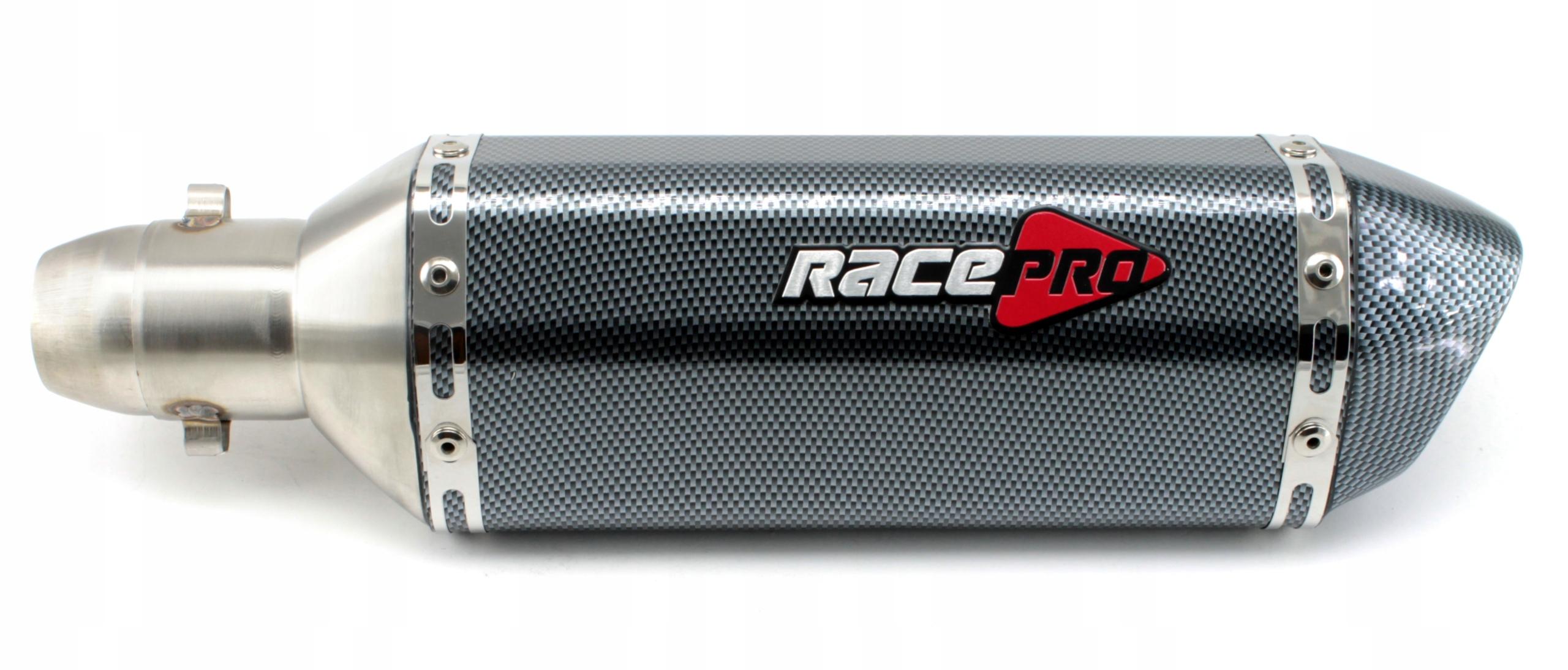 Спортивный выхлоп универсальный глушитель RacePRO carbon