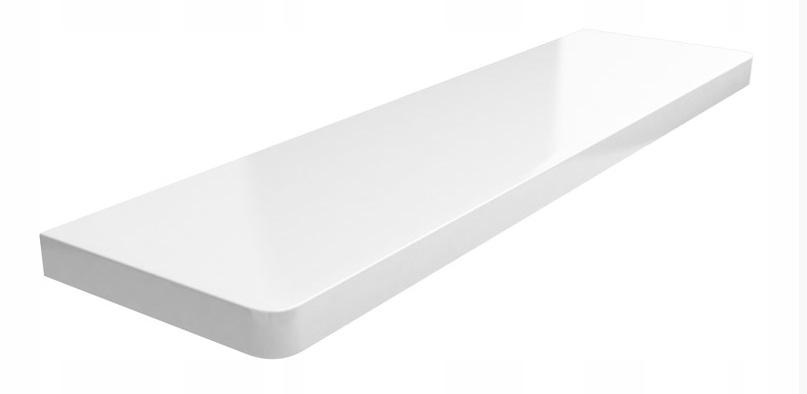 Подоконник из ламинированного МДФ белого цвета