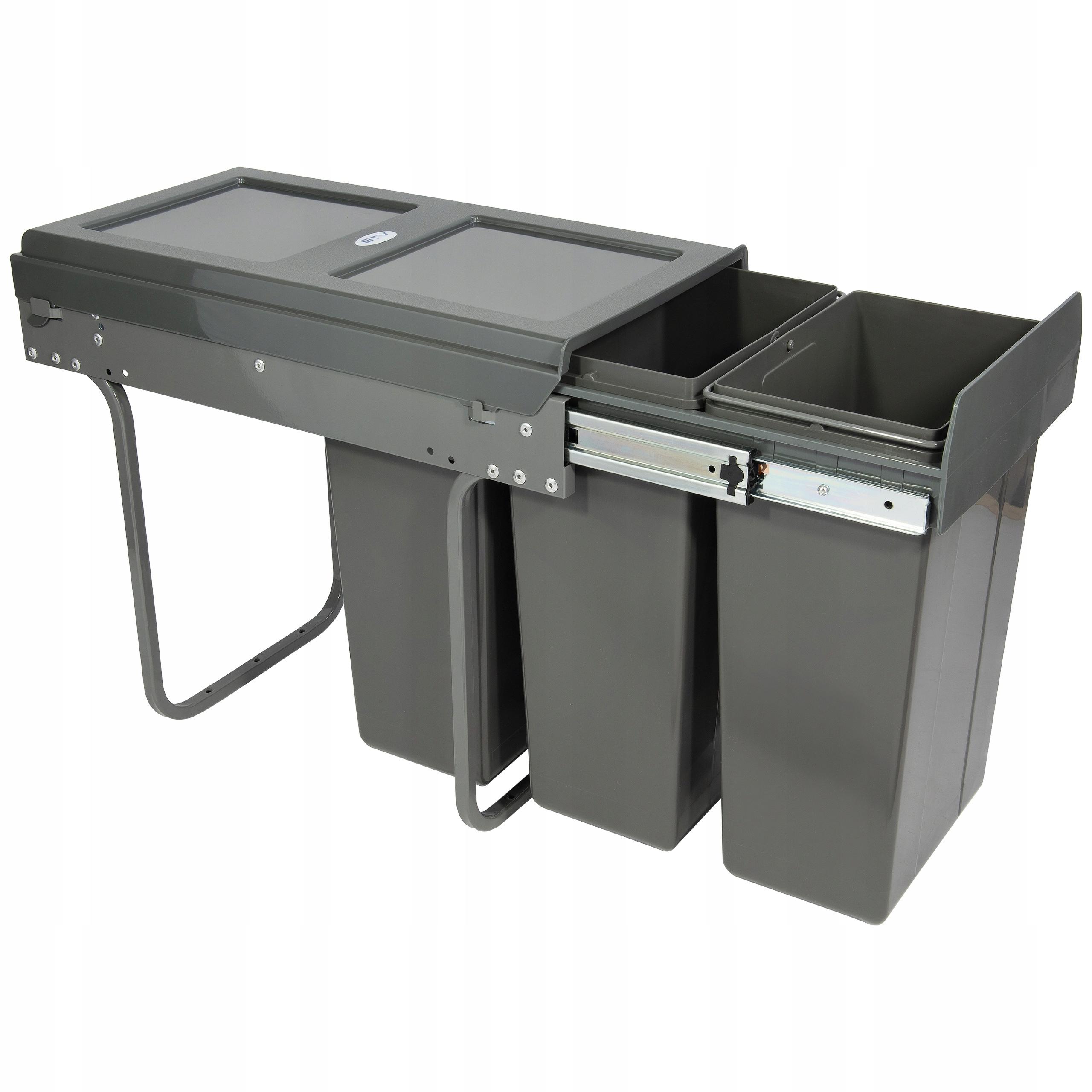 Ящик для мусора PRACTI ECO 300мм 3x10L - GTV